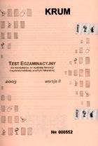 Definicja Test egzaminacyjny dla słownik